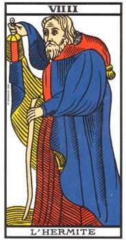 Un arcane du Tarot édité par la maison Grimaud