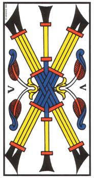 Le cinq de Bâton