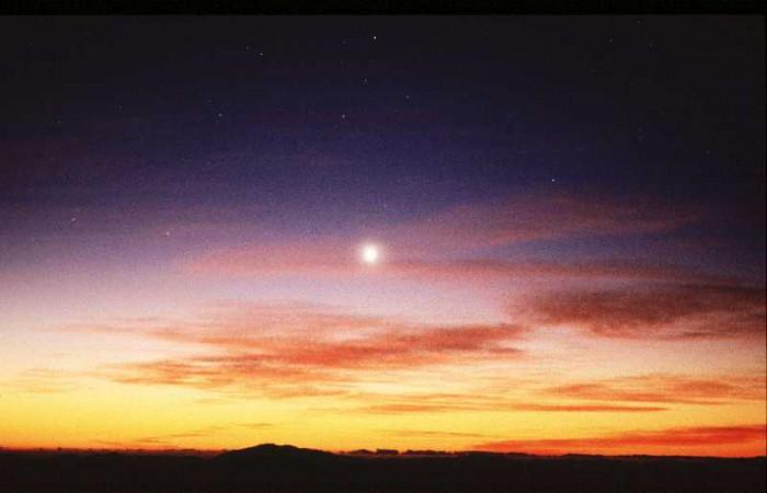 Vénus, qu'on appelle aussi l'étoile du Berger