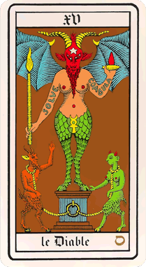 Carte Tarot Diable.Xv Le Diable Le Tarot De Wirth Venusvoyance Com