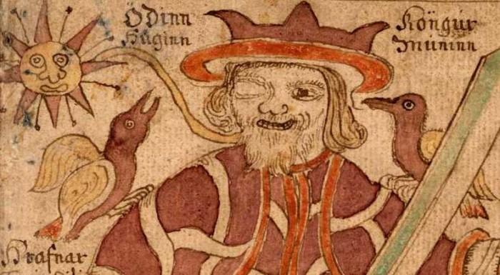 Odin, le dieu borgne, donna aux hommes la connaissance des runes