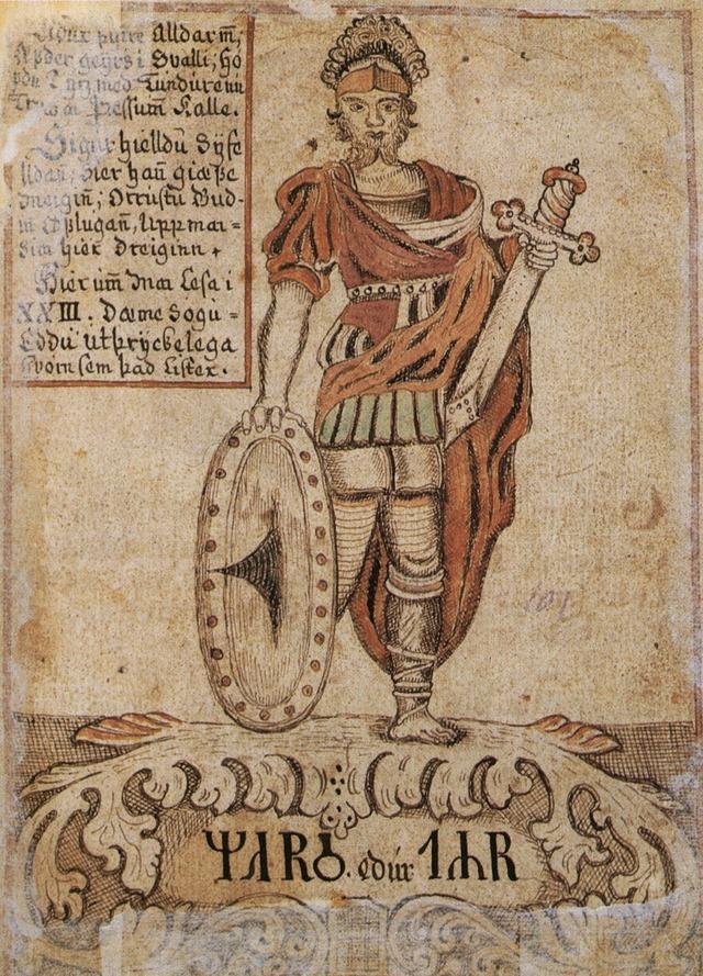 Tyr, dieu de la guerre, de l'ordre et de la justice