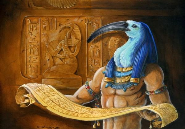 Le dieu Thot à aidé Horus pour son passage d'en l'au-delà