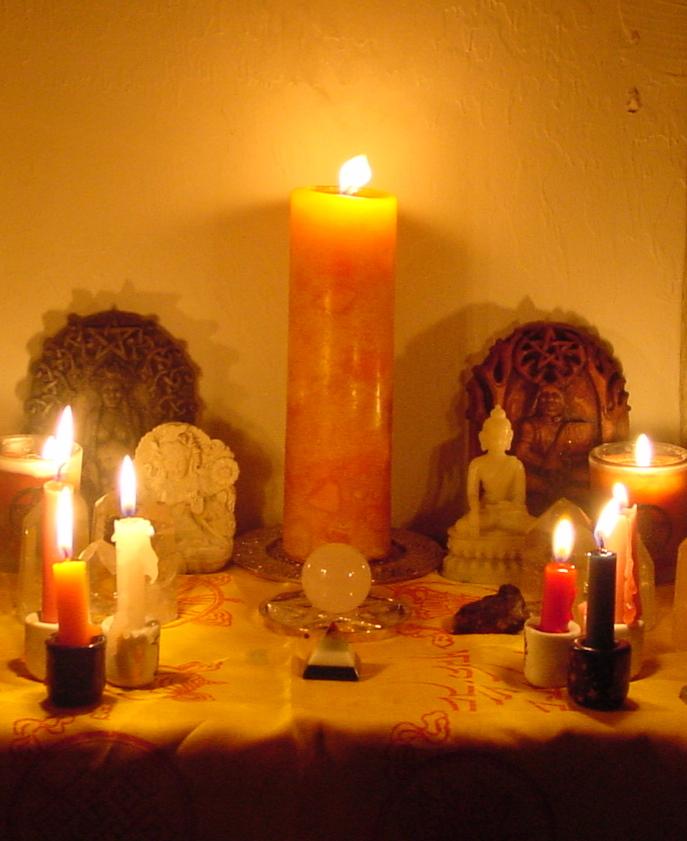 Ne choisissez pas vos chandelles de rituel trop grandes