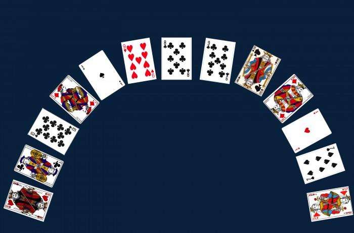 le tirage des treize cartes