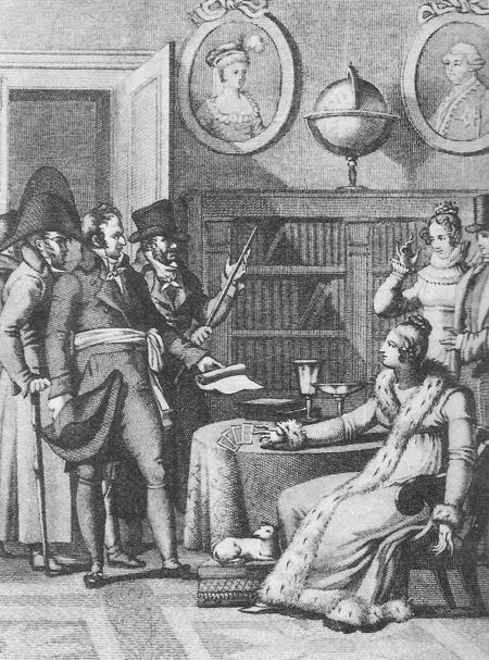 Mademoiselle Lenormand a su prédire à Napoléon ses victoires et ses défaites