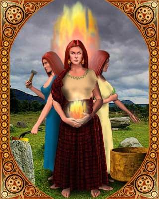 Brigid est la déesse celte patronne du feu