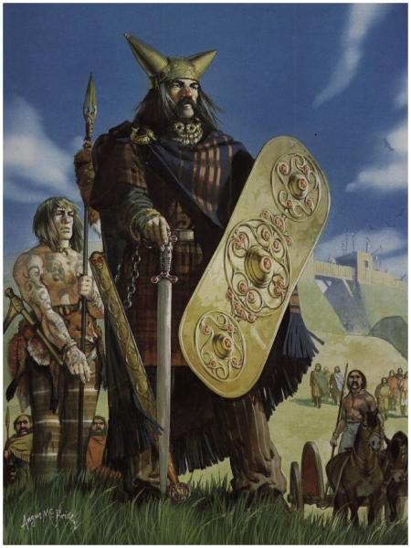 Les guerriers celtes étaient de haute stature et fortement armés