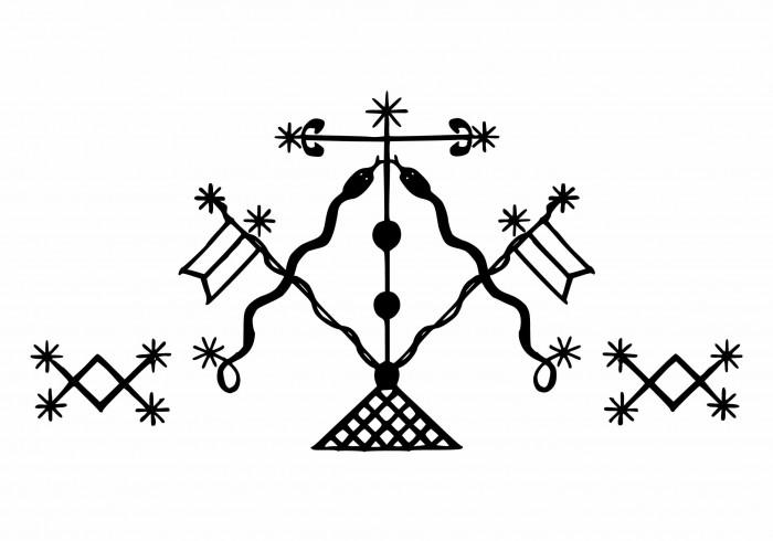 Le Vévé de la divinité Damballah Wedo