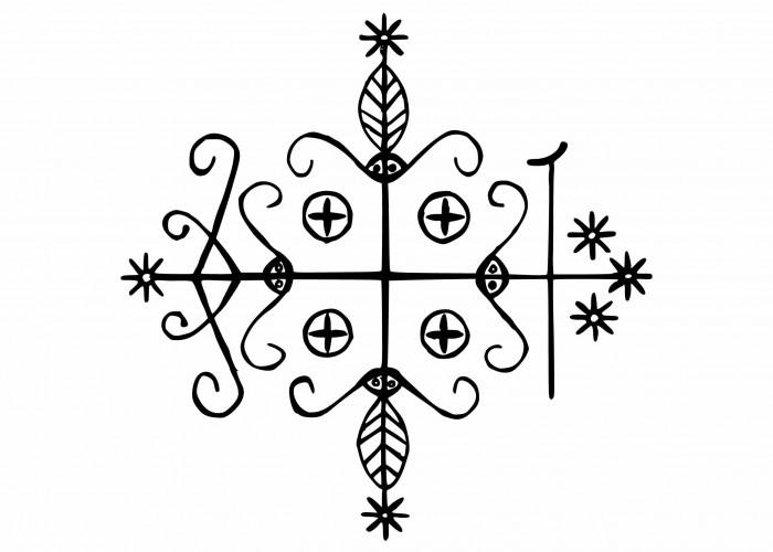 Le Vévé de la divinité Papa Legba