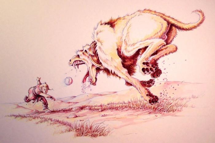 Le chien de Culann est dans la mythologie irlandaise ce qu'est le chien dans la mythologie celte
