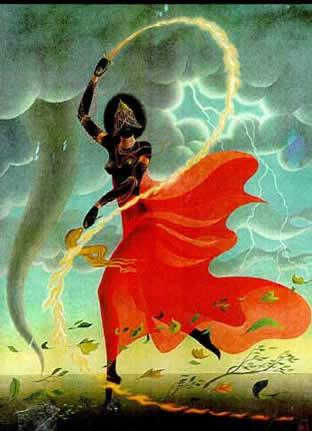 Yansa, déesse du feu et des tempêtes a une capacité de rapidité foudroyante