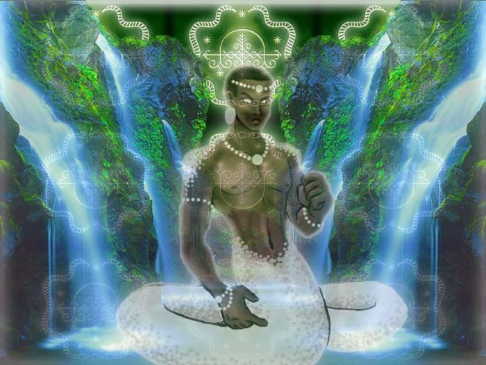 Damballah est une sorte d'homme serpent qui aime la pureté du blanc