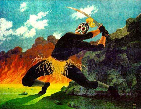 Ogun est un dieu guerrier qui rendit praticable la terre