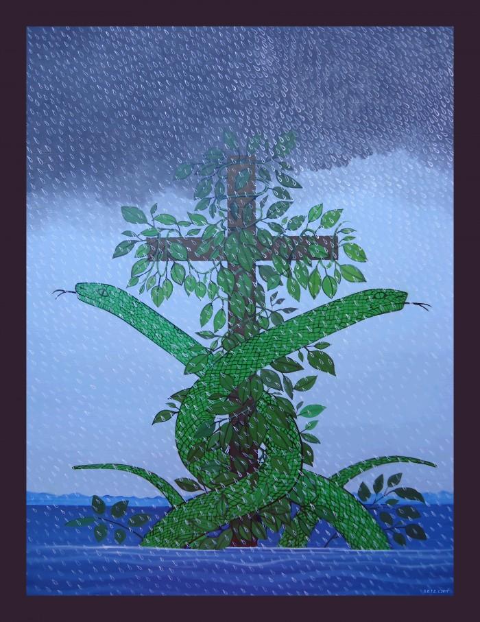 Simbi Andezo associe l'eau de pluie à celle de l'océan