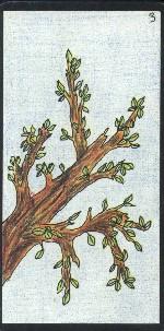 La carte du printemps de l'Oracle Gé est symbolisée par une branche bourgeonnante